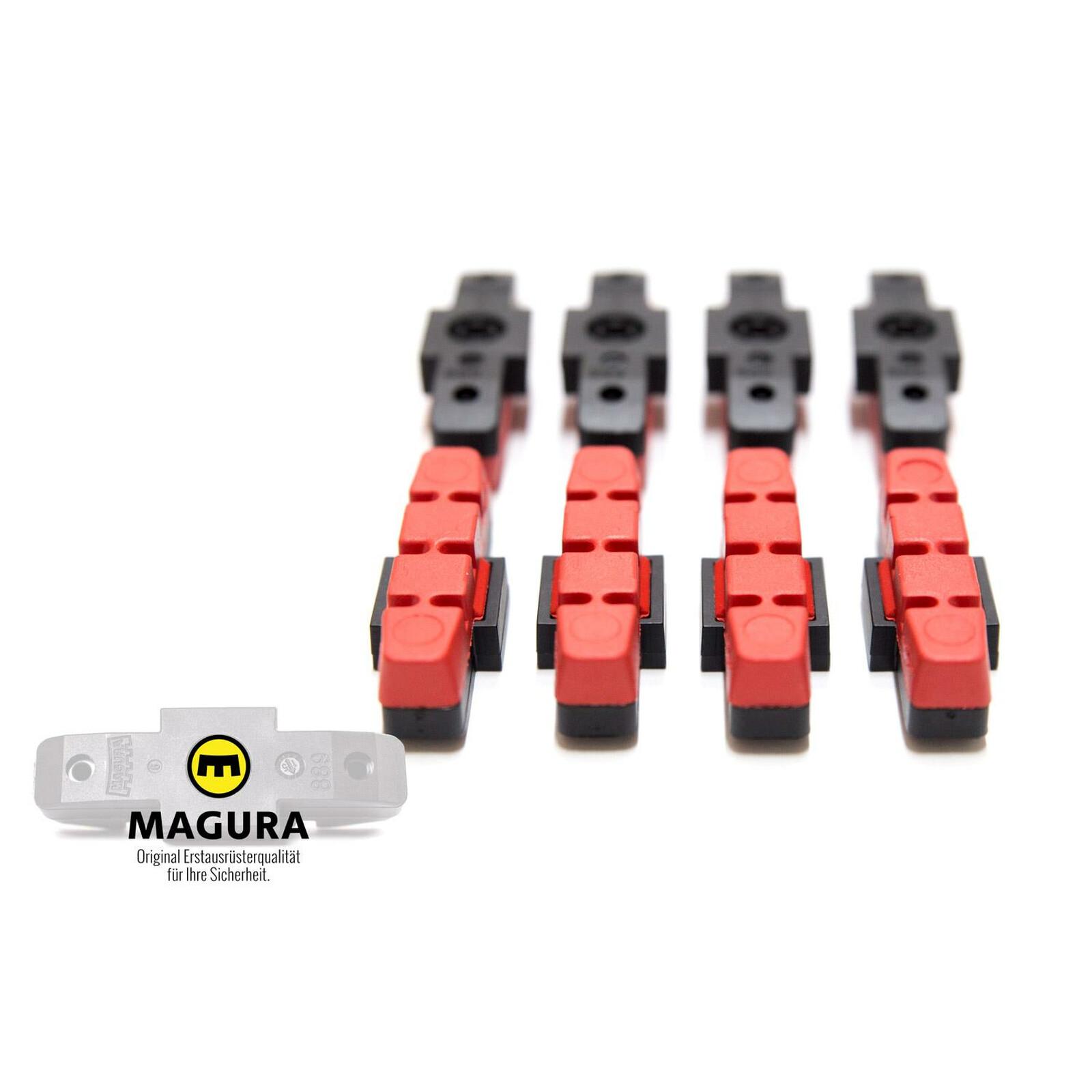 1 Paar MAGURA Original Bremsbelag hydraulische Felgenbremse HS11 22 24 33 66 rot