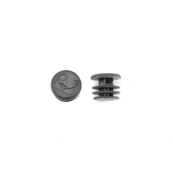 Rundstopfen 20 mm Schwarz Kunststoff Endkappen Verschlusskappen 10 Stck